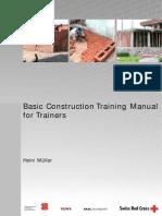 Basic Construction Training Manual Swiss Red Cross Skat Foundation