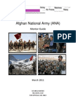 Afghan National Army Mentor Guide (March 2011)
