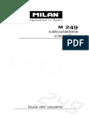 Instruccions Milan M249 Números Notación Matemática