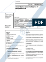 NBR 12889 - 1993 - Sensor Óptico Para Medidores de Energia Elétrica
