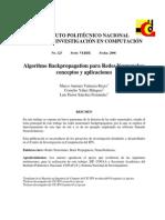 Algoritmo Backpropagation Para Redes Neuronales-Conceptos y Aplicaciones