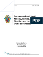 OLOReport2014-11ProcurementandSmallMinorityFemaleDisabledandLocallyOwnedBusinesses