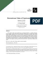 downstream value of upstream finance -- hill kelly lockhart -- 2013