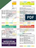 Cronograma Iº Congreso Nacional de Educación no Sexista