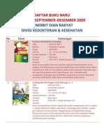 Daftar Buku Baru Sept-Des 2009