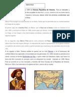 Cristobal Colon y Marco Polo Biografia