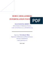 Dubuc-Deslauriers Interpolation Wavelets Tese