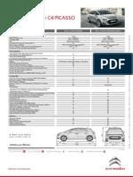 Ficha Técnica Citroën C4 Picasso