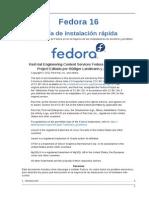 Fedora 16 Installation Quick Start Guide Es ES