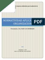 Normatividad en Organizacion