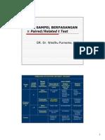 Statistik Uji t Berpasangan Biostat 09 (Paired t Test)