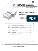 Sharp Serial Dot Matrix Printer DP-730 Parts & Service