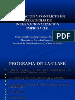 Cooperacion y Conflicto 2012