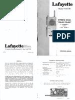 Lafayette Ha 73b cb walkie talkie User manual Schematic