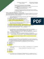 Evaluación de Contenidos Actos de Habla Fila A