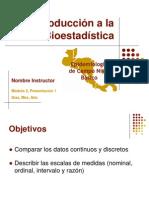 M2 PPt1 Introducción Bioestadística 25 Slides