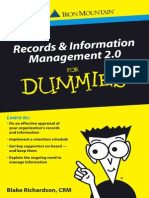 Records and Information Management for Dummies