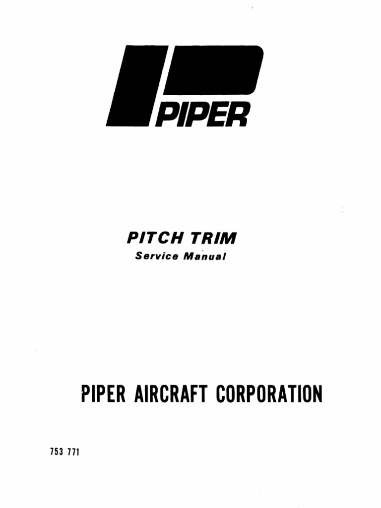 piper pitch trim service manual servomechanism