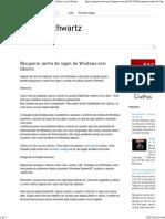 Augusto Schwartz_ Recuperar Senha de Logon Do Windows Com Ubuntu