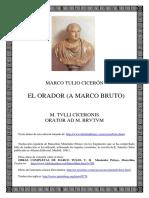Ciceron Marco Tulio - El Orador - A Marco Bruto (Bilingue)