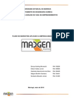 Plano de Marketing - Madgen 2014