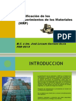 Planificación de los requerimientos de Materiales