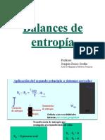 Tema 6b. Balances de Entropia