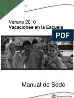 Manual de sede Verano 2010