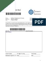 Coursework Header Sheet 157099-127