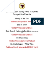 2014 Hudson Valley Wine & Spirits Competition Results
