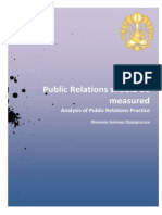 Public Relations Should Be Measured