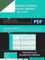 Plan Urbano Distrital Propuesta Urbana