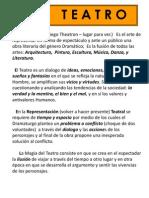 El Teatro. Documento de Apoyo Para La Evidencia 3