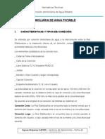 NORMATIVA TECNICA - CONEXION DE AGUA POTABLE 03-04-12.doc