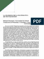 Wittgenstein_Filosofía de La Matemática