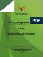 Peraturan Menteri Dalam Negeri Nomor 56 Tahun 2014 tentang Tata Cara Peran Masyarakat dalam Perencanaan Tata Ruang Daerah