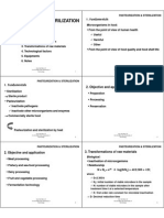 Pasteurization and Sterilization