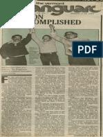 Mission Accomplished | Vanguard Press | Mar. 11, 1984