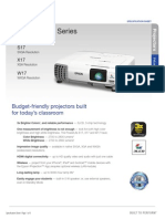 PowerLite X17 Product Specification Sheet