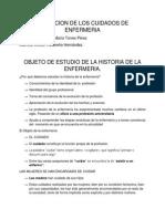 Objeto de Estudio de La Historia de La Enfermeria.