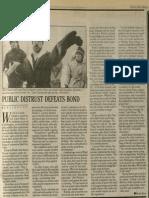 Public Distrust Defeats Bond | Vanguard Press | Dec. 15, 1985