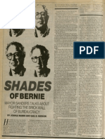 Shades of Bernie | Vanguard Press | Apr. 21, 1985