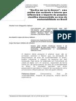 ######Decifra-me Ou Te Devoro- Uma Análise Das Variáveis e Fatores Que Influenciam o Impacto Da Pesquisa Científica Desenvolvida Na Área de Sustentabilidade No Brasil_Scielo