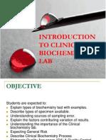 1- Intro Clinical Biochem
