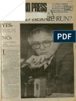Should Bernie Run? | Vanguard Press | Apr. 6, 1986