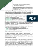 Efectos de Los Factores Fisicos y Quimicos Sobre El Desarrollo Microbiano
