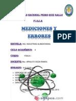 Mediciones y Errores