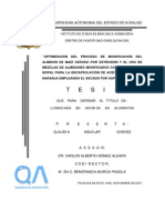 Optimizacion Del Proceso de Modificacion Del Almidon de Maiz