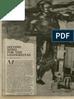 Second Wind for the Sanderistas   Vanguard Press   Mar. 8, 1987