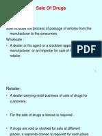 Sale of Drugs